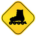 Roller skates sign Stock Image