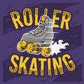 Roller Skating Design With A Classic Model Roller Skate.