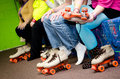Roller Skating feet Royalty Free Stock Photo