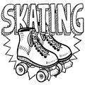 Roller skating sketch Stock Photography