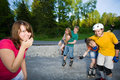 Rollerblading Royalty Free Stock Photos