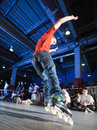 Rollerblading competition Royalty Free Stock Photography