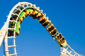 Rollercoaster (inverted) Royalty Free Stock Photo