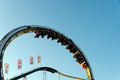 Rollercoaster with looping at hamburg dom fair Royalty Free Stock Photography