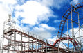 Rollercoaster in a small amusement park aberdeen scotland Royalty Free Stock Photos