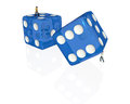 Rolling dice tiny man a with one man watching Royalty Free Stock Photography