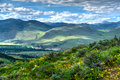 Rolling hills from Patterson Mountain. Royalty Free Stock Photo