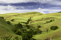 Rolling hills in the spring in livermore california on a cloudy day Royalty Free Stock Photos