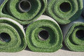 Rolls of Artificial Grass Royalty Free Stock Image