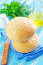 Rolls for burgers on a table Royalty Free Stock Photography