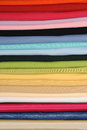 Rolls of colorful fabric Royalty Free Stock Photo
