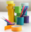 Rolls colorful tape arts crafts projects Royalty Free Stock Image