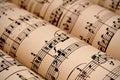 Rolls da música de folha (public domain) Imagem de Stock
