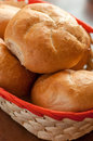 Rolls fresh baked in the bakery Royalty Free Stock Photo