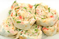 Rolls in lavash Royalty Free Stock Images