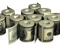 Rolls of money Stock Image