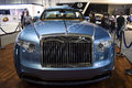 Rolls royce blue dubai uae november on display at the dubai motor show uae Royalty Free Stock Photo