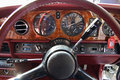 Rolls royce dash detail of a silver spur board Stock Image