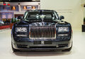 The rolls royce ghost standard wheelbase the majestic horse bangkok thailand march phantom extended is on display at th bangkok Royalty Free Stock Image