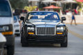 Rolls royce a luxurious convertible phantom parked in south beach florida Stock Photo