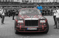 Rolls royce phantom ewb gumball edition dublin to bucharest from wolf pack team rally number on final closing ceremony of Royalty Free Stock Photography