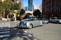 Rolls-Royce in the streets of the old part of the Rocks. Sydney. Royalty Free Stock Photo
