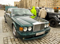 Rolls roys on rally of classical cars moscow april retro car poklonnaya hill april in town russia Stock Photo