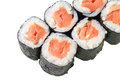 Rolls with smoked salmon Royalty Free Stock Photo