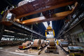 Rolls of steel sheet inside of plant Royalty Free Stock Photo
