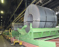 stock image of  Rolls of steel sheet in a plant
