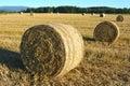 Rolls of straw Royalty Free Stock Photo
