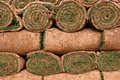 Rolls of Turf Stock Photo
