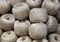 Rolls of twine grupa new reel with Royalty Free Stock Photography