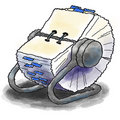 Rolodex rotary card file Stock Photos