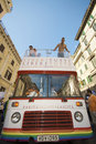 Roma pride 2009, the Official Bus Royalty Free Stock Photography