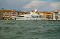 Roma super yacht venice italy june the millionaire s moored in on june the and crew are hired by many wealthy people Royalty Free Stock Photos
