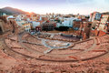 Roman amphitheater in cartagena spain Stock Photo