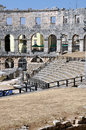 Roman amphitheater, colosseum in Pula, Croatia Stock Photography