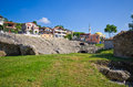 Roman amphitheater in durres albania old Royalty Free Stock Photography
