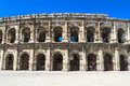Roman Amphitheater in Nimes, France Royalty Free Stock Images