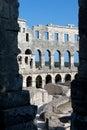 Roman Amphitheater in Pula Royalty Free Stock Photo