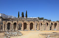 Roman Amphitheater ruin Italica Royalty Free Stock Photo