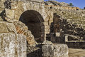 Roman amphitheatre detail mérida november amphitheater ruins in mérida capital of extremadura region in spain year b c Royalty Free Stock Photos