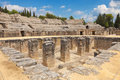 Roman amphitheatre of Italica Stock Images