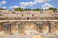Roman amphitheatre of Italica Stock Photo