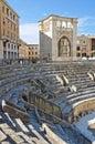 Roman amphitheatre lecce puglia italien Royaltyfri Bild