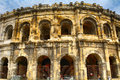 Roman amphitheatre, Nimes, France Royalty Free Stock Photo