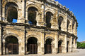 Roman amphitheatre of Nimes, France Royalty Free Stock Photo