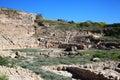 Roman amphitheatre paphos cypern Royaltyfri Foto