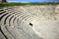Roman amphitheatre paphos cyprus odeion theatre is a nd century an ancient ruin which faces the mediterranean sea and has been Royalty Free Stock Photos
